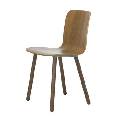 HAL Ply Wood Stuhl mit Filzgleitern