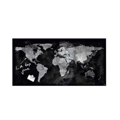 artverum® Glas-Magnetboard World Map