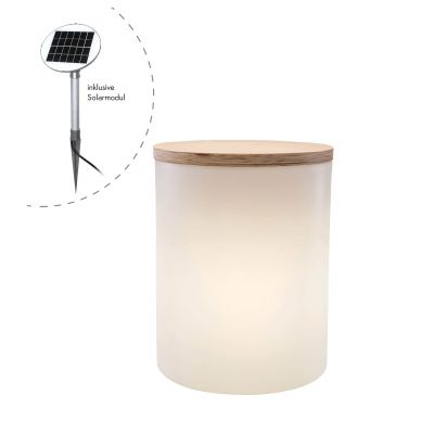 Shining Drum Solar LED Gartenleuchte und Beistelltisch