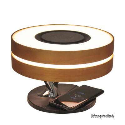 Icona LED Tischleuchte mit BT Lautsprecher und Wireless Ladestation