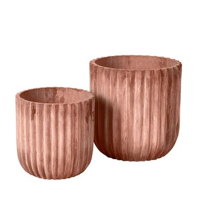 Fiber Cylinder Blumentopf 2er-Set