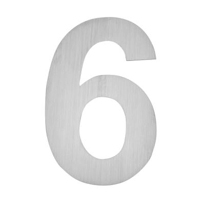 Hausnummer zum Aufkleben 6