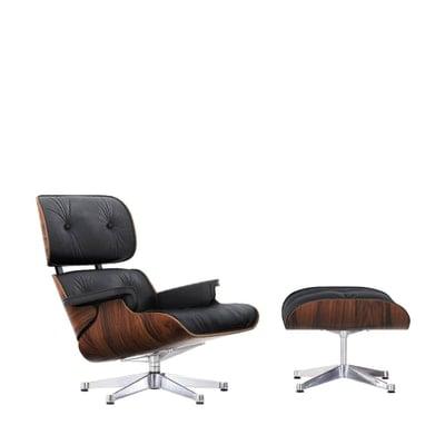Lounge Chair & Ottoman Palisander Leder Premium F