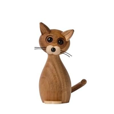 Lucky Cat Holzfigur