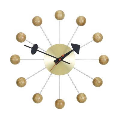 Ball Clock Wanduhr Kirsche