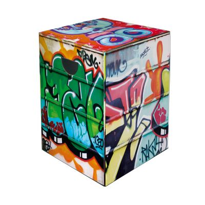 Papphocker Graffiti Hocker