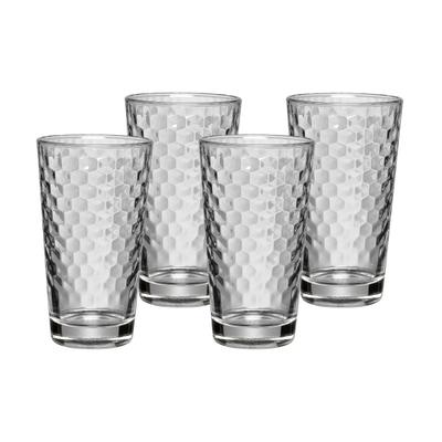 Honeycomb Latte Macchiato Glas 4er-Set