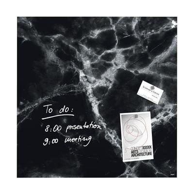 artverum® Glas-Magnetboard Black Marble