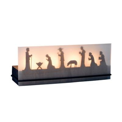 Schattenspiel Krippe 4er Teelichthalter