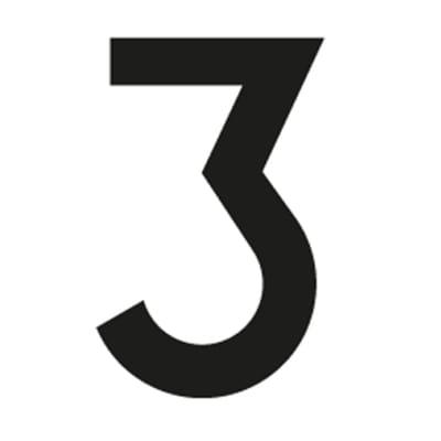Spring Symbols Aufkleber Zahl 5er-Set