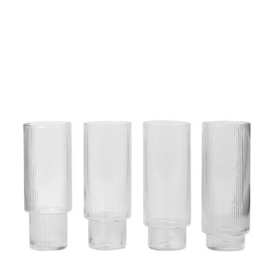 Ripple Longdrink Glas 4er-Set